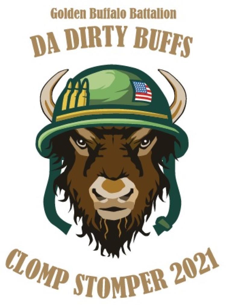 "Golden Buffalo Battalion, ""Da Dirty Buffs"", Clomp Stomper 2021 Logo."