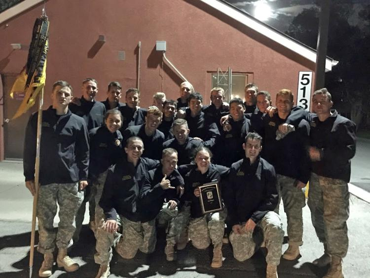 """The 2016 University of Colorado Boulder Alpha and Bravo Ranger Challenge teams at Camp Williams, Utah after the regional competition."""