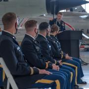 Brigadier General Scott Sherman's speech.