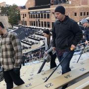 The last Stadium clean-up for the 2109 football season – Folsom Field – November 24, 2019