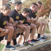 Cadets participating in circuit station.
