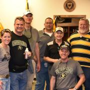 A group of CU-Boulder and Army ROTC alumni members from the classes between 1989-91 held a reunion during the Vet's weekend.