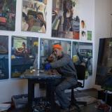 Mikey Yates in his studio