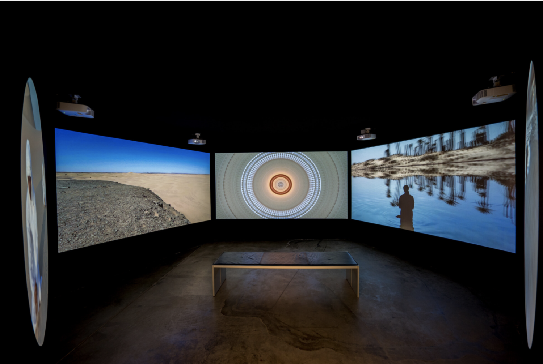 Silsila video installation at Marta Herford Museum, Germany, 2017