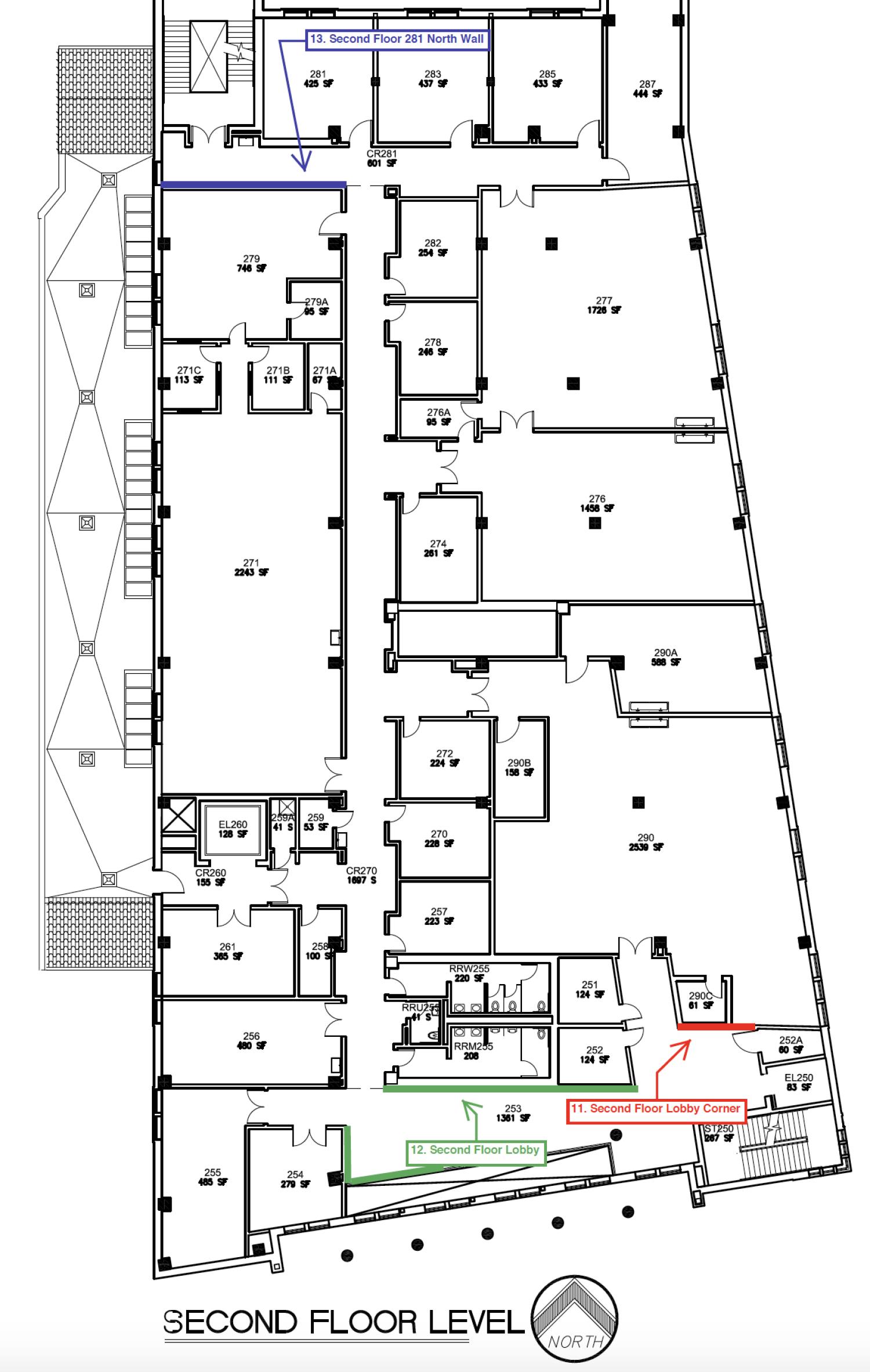 schematic for building second floor