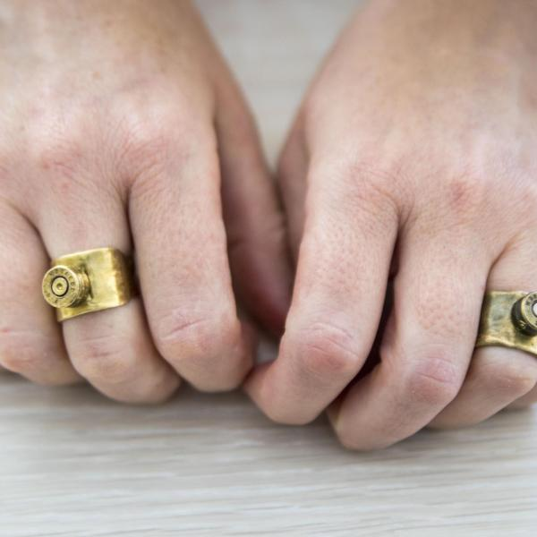 """Untitled: Trench Art Inspired Rings,"" Bullet Casings 2020"