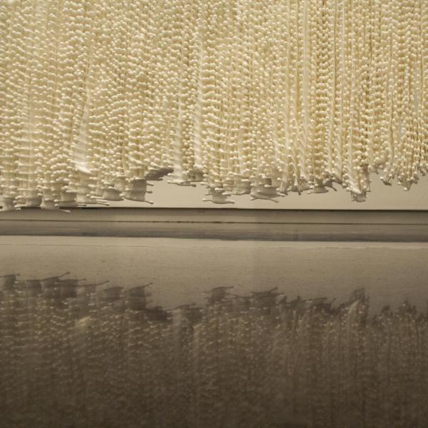 Maiden, 2020. 250,000 cotton swabs hanging together.
