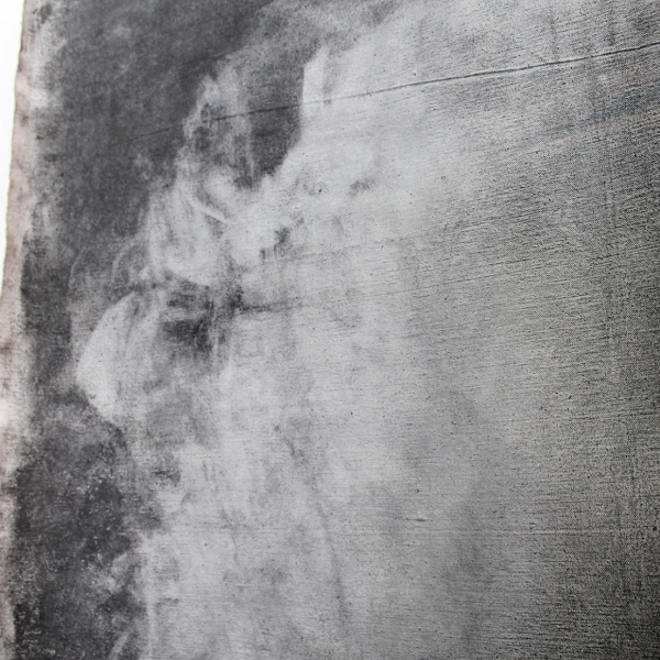 "Sara St. Clair. ""Sleep Drawing Experiment,"" Graphite on Canvas. 5'x5'. 2019"