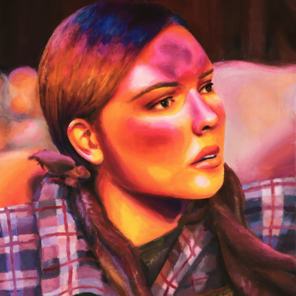 "Amanda Widner. ""The Swamp,"" acrylic paint on canvas. 24""x18""x1"". 2019"