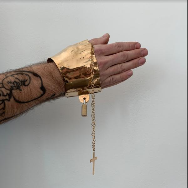"William Frizzell. ""The Power of Prayer,"" Bronze. 5.5 x 4.35 x 4. 2019"