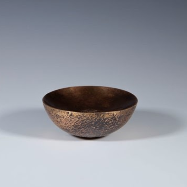 """Delaney Gardner-Sweeney. """"Vessel,"""" bronze. 6cmx12cmx12cm. 2019"""