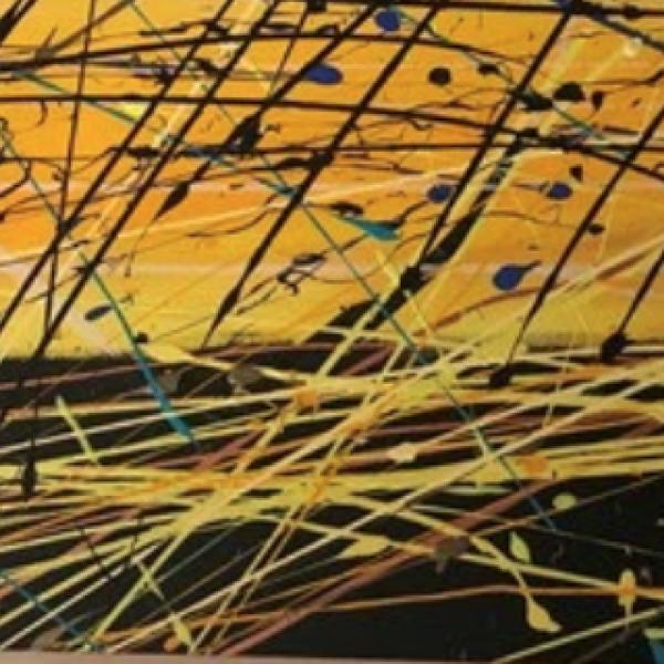 "Devon Garber. ""5:00,"" Acrylic on Canvas. 18""x24""x0.5"". 2020"