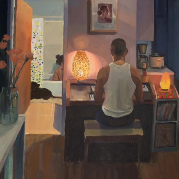 "Mikey Yates. ""Unit 2,"" Oil on canvas. 48""x36"". 2019"