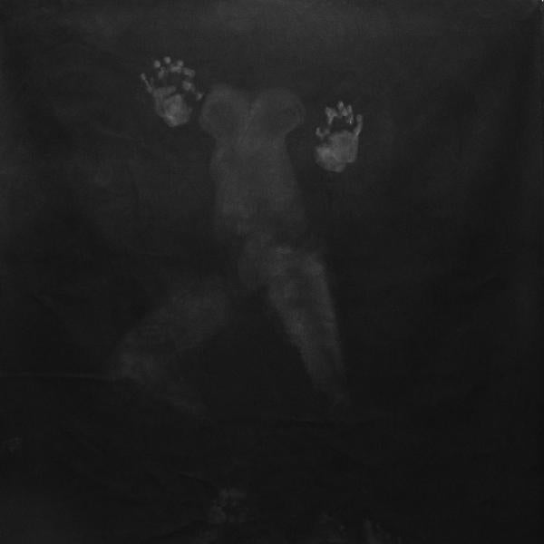 """""""Body Drawing,"""" Charcoal on canvas. 12' x 5'. 2019"""