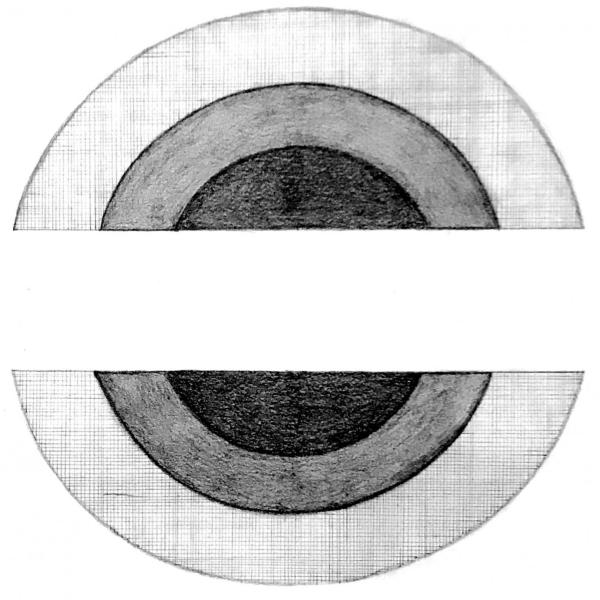 """""""In the Round (Proposal),"""" Graphite on paper, and concept interaction. 2020"""