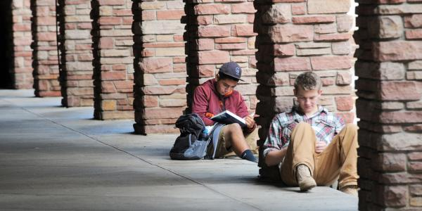 Students studying at CU Boulder in the UMC