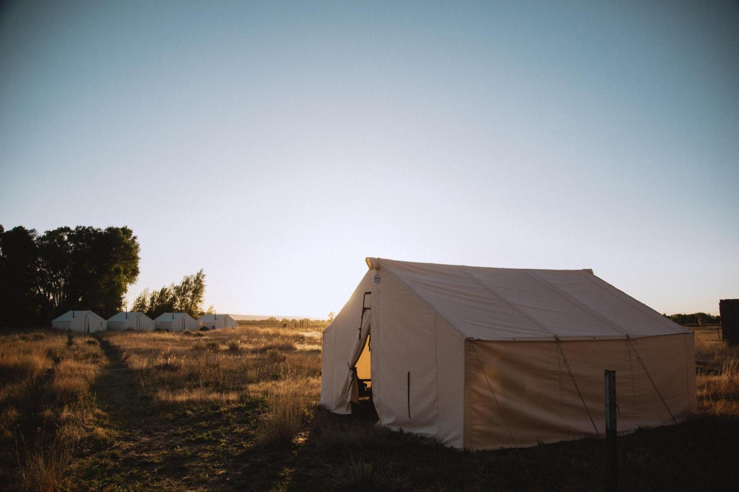 Tent used by students in Field School