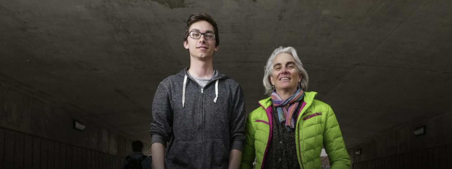 Martha Russo and student