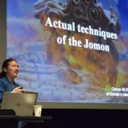 Japanese artist talking about Jomon pottery