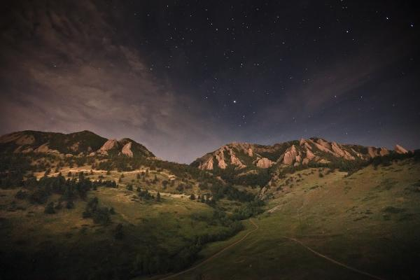Sommers-Bausch Observatory - Stars over the Flatirons