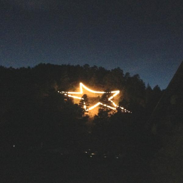 Flagstaff star lit