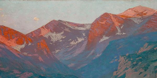 Charles Partridge Adams Painting of Mountains