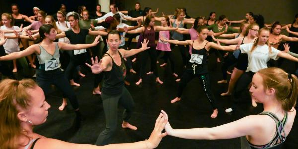 Dance class at CU Boudler