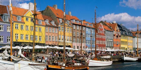 Photograph of Copenhagen, Denmark.
