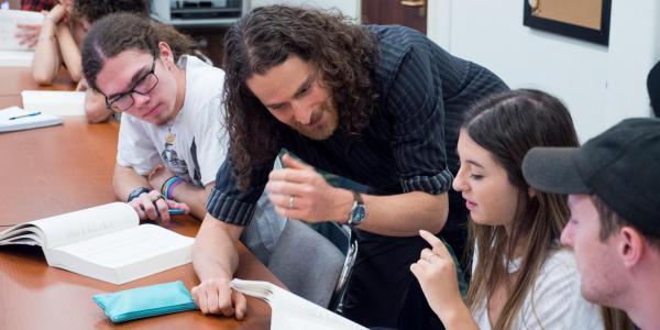 Photograph of Jewish Studies professor in the Classroom