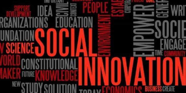 A social innovation word cloud.