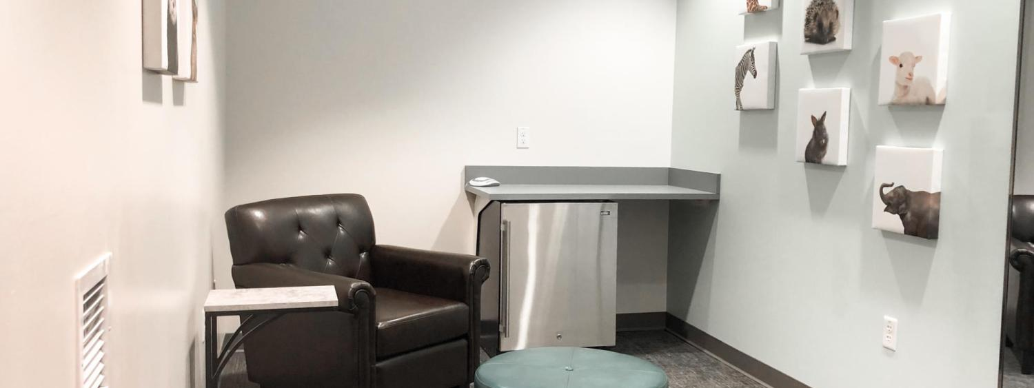 A lactation room in the College