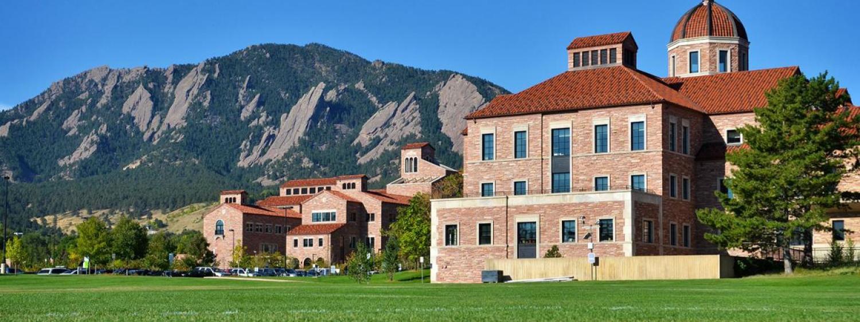 Photograph of Leeds Business on CU Boulder's Campus