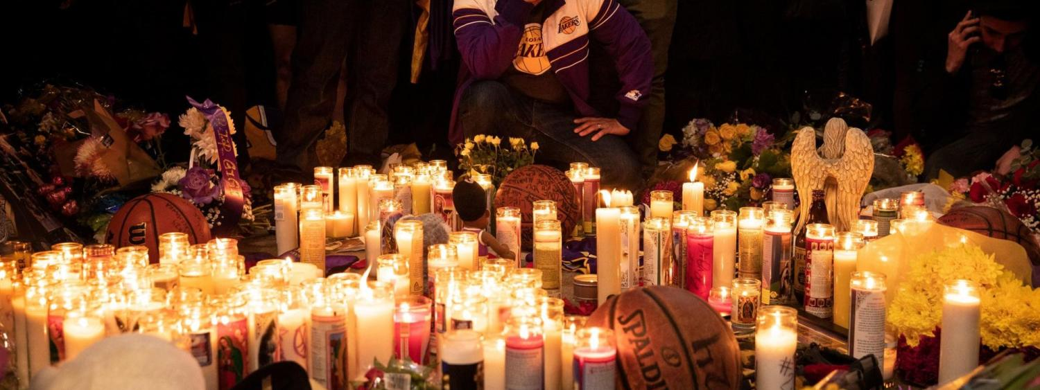 Kobe Bryant Fans gather after his death