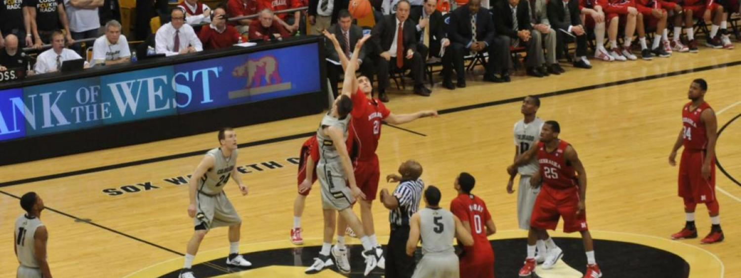 Photograph of a CU Basketball Game