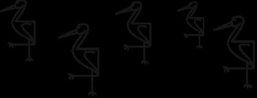 Heron Birds standing together
