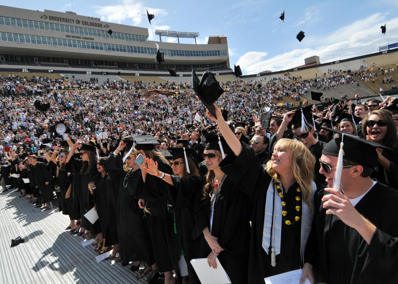 Graduation at Folsom Field