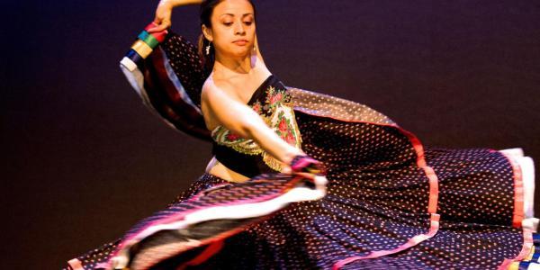 student dancing flamenco