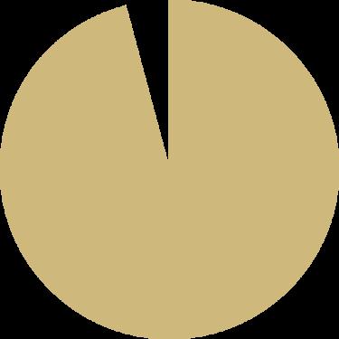 96 percent pie chart vector
