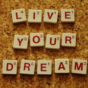 Live your dream (written in Scrabble tiles)
