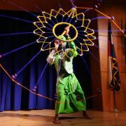 dancer performs traditional arab dance