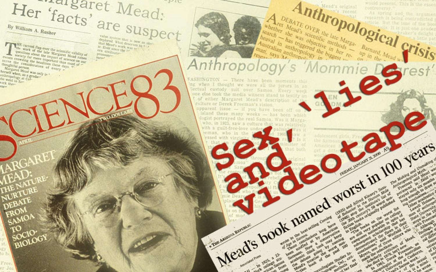 Newspaper clipping about Margaret Mead