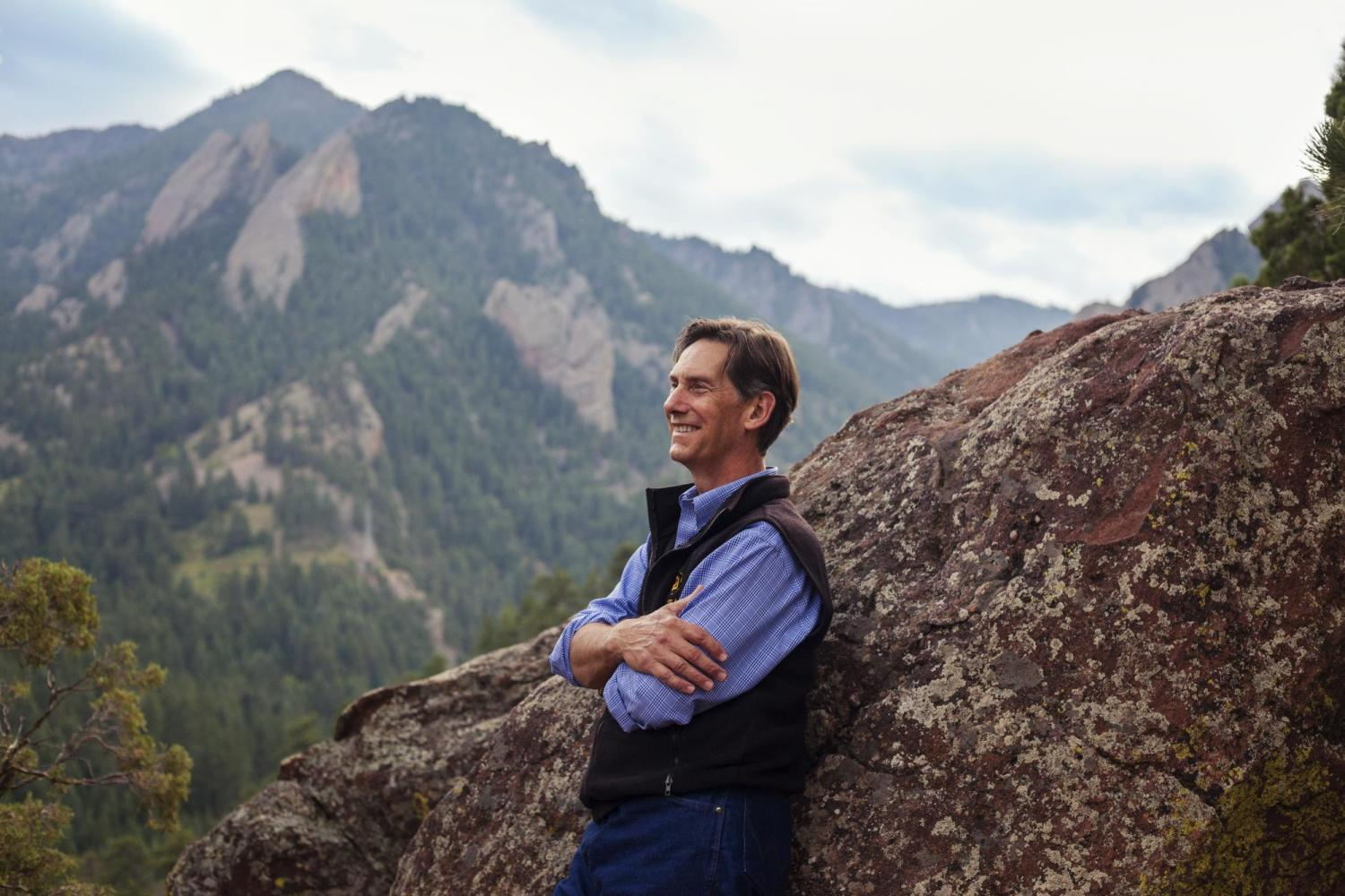 James White at the flatirons
