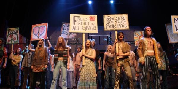 Photograph from the musical, Hair