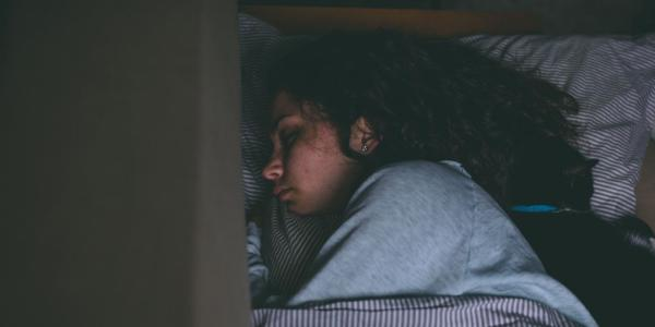 Stock photo of a woman sleeping