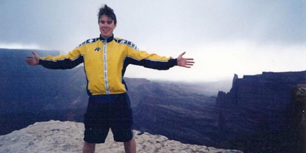 James Mack celebrating life in Moab.