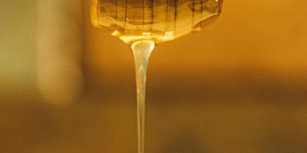 Dripping Honey Stock Photo