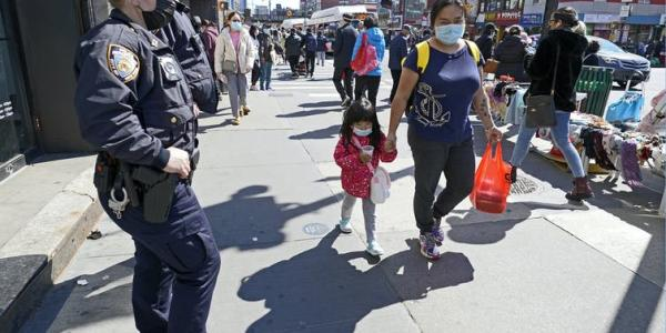 As fears of anti-Asian violence grow, police seek to be more visible to deter attacks.     AP Photo/Kathy Willens