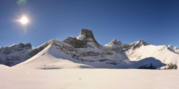 Fortress Mountain in the Canadian Rockies of Alberta, Canada.