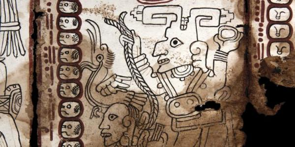 Detail from a document called the Grolier Codex.