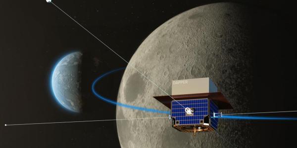 Satellite to the moon